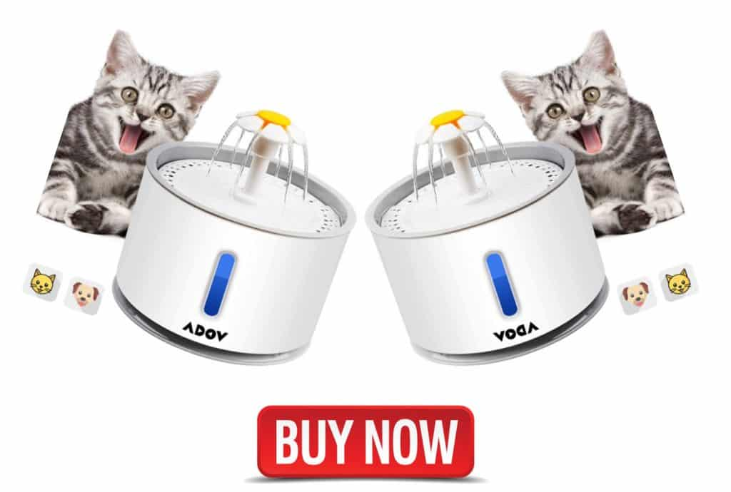 Adov cat water fountains, automatic electric flower dispenser